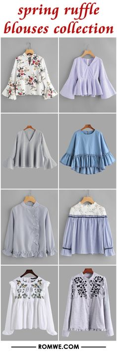 spring ruffle blouses collection