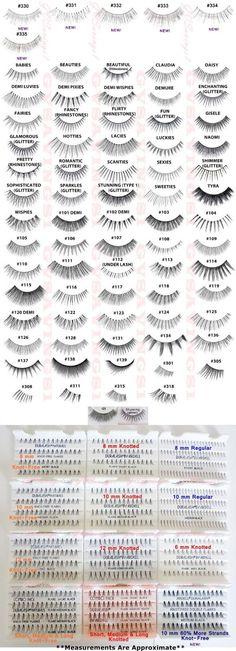 Ardell False Eyelashes:  Natural, Glamour, DuraLash, and Flare <3 <3 <3 lashes!