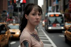 Thomas Leuthard candid portrait of Tattoed girl