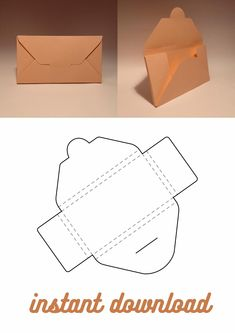 Diy Gift Box Template, Box Packaging Templates, Box Template Printable, Paper Box Template, Envelope Design Template, Packaging Nets, Origami, Cardboard Letters, Envelope Box