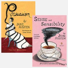 Jane Austen with surreal covers