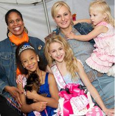 Holly, Nia, Chloe, Christi, and Clara at Nia's birthday