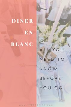 I attended my very first Diner en Blanc event and it was incredible; however, the preparation leading up to the event was confusing and at times overwhelming as a newbie.  In order to ensure that you don't make the same mistakes that I did, I'm here to give you all of the inside tips into planning and preparing for your next Diner en Blanc event in your city, including a PDF Packing Checklist for your convenience.