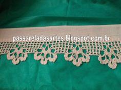 Artes na Passarela: Barrado de crochê