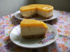 YUMMY TUMMY: Eggless Mango Cheese Cake ( No Bake, No Cream Cheese, No SpringForm Pan, No Eggs) - Celebrating my 600th Post