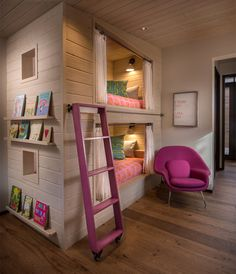 another space I would have loved as a kid... but the pink and orange accents would have been purple, blue or red.