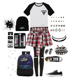 """""""don't waste your time on me you're already, the voice inside my head"""" by littlenerd10 ❤ liked on Polyvore featuring Charlotte Russe, Topshop, LØMO, Converse, Casetify, Vans, country and nerdsoutfit"""