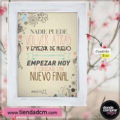 Para irnos a dormir con una frase inspiradora.   Encontralo en ➜ www.tiendadcm.com/listado/Cuadritos/28203