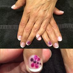 CND shellac mani I did, free hand dragon fly nail art