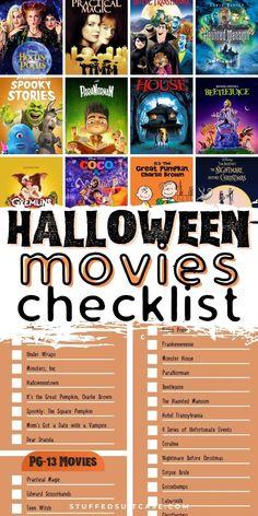 31 Spooktacular Halloween Movies for Kids [Printable Checklist]
