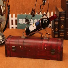 Wood Win Box Portable Wine Bottle Box Packing Wine Gift Storage Box Bar Red Wine Box  Handicraft Furnishing //Price: $53.03 & FREE Shipping //     #WallArt