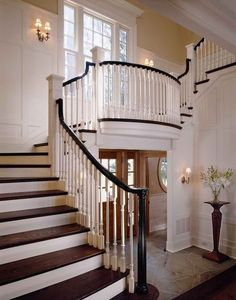 traditional staircase by Sullivan Conard Architects - beautiful