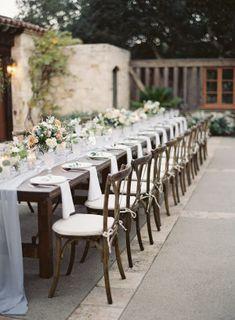 A Rustic French Blue Wedding at Holman Ranch in Carmel French Blue Wedding, Classic Romantic Wedding, Romantic Wedding Receptions, Timeless Wedding, Rustic Wedding, Wedding Tables, Wedding Planning Inspiration, Wedding Photography Inspiration, Wedding Ideas