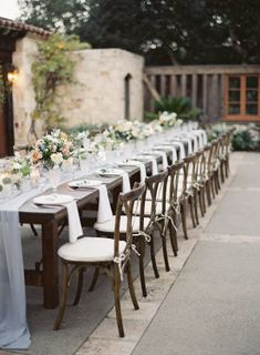 A Rustic French Blue Wedding at Holman Ranch in Carmel French Blue Wedding, Classic Romantic Wedding, Romantic Wedding Receptions, Timeless Wedding, Rustic Wedding, Wedding Alter Decorations, Wedding Table Numbers, Wedding Tables, Rustic French