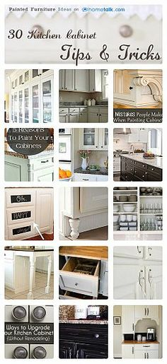 30 Kitchen Cabinet Tips