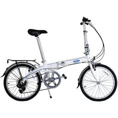 Ford By Dahon 7-Speed Convertible 2.0 Aluminum 20 inch Folding Bicycle, White