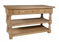 Unfinished Furniture of Wilmington provides quality furniture at reasonable prices with amazing customer service. View the Tuscan Kitchen Island today! Kitchen Island Storage, Kitchen Island With Sink, Kitchen Island Decor, Kitchen Sets, Rustic Kitchen, Kitchen Islands, Kitchen Island Unfinished, Tuscan Kitchen Colors, Tuscan Kitchens