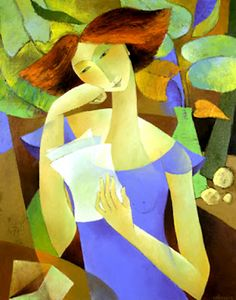 Reading and Art: Françoise Collandre, Le courrier 1