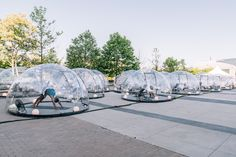 Gallery of Socially Distant Outdoor Yoga Domes Invade the Open Spaces of Toronto - 1 Toronto Images, Fitness Facilities, Outdoor Yoga, Geodesic Dome, Outdoor Workouts, Home Design Decor, Outdoor Settings, Home Interior, Pop Up