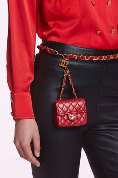 Vintage Chanel Leather Belt Bag - Red | Shop Vintage at Nasty Gal!