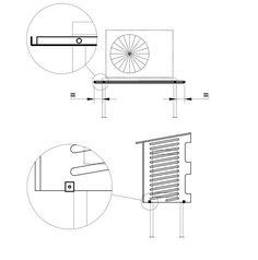 Kiilax -ilmalämpöpumpun suojakotelo, Köynnös   Rakennusosa Floor Plans, Diagram, Floor Plan Drawing, House Floor Plans