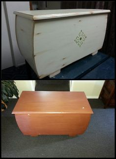 Distressed vintage furniture makeover