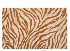 Skyland Rust Tiger-Print Rug   Take a walk on the wild side with this area rug.