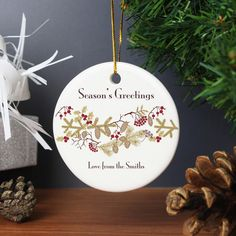 Personalised Christmas Floral Decoration You can personalise this Christmas Floral Decoration with a message over 2 lines of up to 20 characters per line. All personalisation is case sensitive and will appear as entered. Decorations are supp http://www.MightGet.com/january-2017-13/personalised-christmas-floral-decoration.asp
