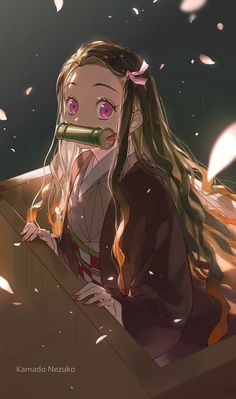 Nezuko Kamado, Demon Slayer: Kimetsu no Yaiba, Demon Slayer: Kimetsu no Yaiba bookmarks / 竈門禰豆子 - pixiv Anime Angel, Anime Demon, Chica Anime Manga, Otaku Anime, Demon Slayer, Slayer Anime, Kawaii Anime Girl, Anime Art Girl, Japon Illustration