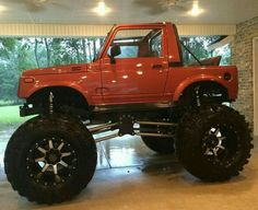 Mini Trucks, Lifted Trucks, Cool Trucks, Monster Trucks, Monster Car, Suzuki Sj 410, Redneck Trucks, Jimny Sierra, International Scout