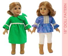 DRESS American girl doll clothes pattern by MyChildhoodTreasures