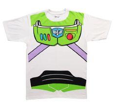 Toy Story Buzz Lightyear Astronaut Costume White T-shirt Tee - List price: $32.95 Price: $16.95 Saving: $16.00 (49%)