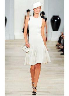 Ralph Lauren - Women's Ready-to-Wear - 2013 Spring-Summer Day Dresses, Evening Dresses, Short Dresses, Summer Dresses, Light Dress, Little White Dresses, Classy Outfits, Timeless Fashion, Dress To Impress