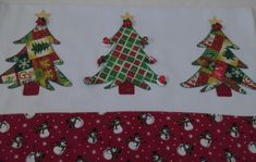 Panos De Prato - Natalinos 8 no Elo7 | VIVENDO COM ARTE (39EEF7) Christmas Makes, Little Christmas, Christmas Diy, Christmas Decorations, Christmas Towels, Christmas Kitchen, Sewing Crafts, Sewing Projects, Holiday Gifts