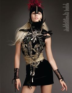 Kristian Aadnevik AW2012 velvet dress with gold details from Gloss Magazine Photo: Jenny Brough Photography