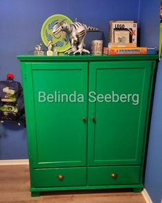 old IKEA TV-cabinet made in to child / boys wardrobe