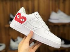 new products 92e61 1a009 Mens Womens Nike Air Force 1  07 White Red 315115 112 Shoes Sportswear Air  Force