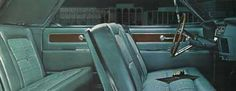 1963 Lincoln Continental interior featuring the 'cloud pattern' cloth