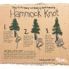 The Only Hammock Knot You'll Ever Need: How To Hang a Hammock! – Hobo Hammocks The Only Hammock Knot You'll Ever Need: How To Hang a Hammock! – Hobo Hammocks,Bushcraft, Survival Check out this. Bushcraft Camping, Camping And Hiking, Camping Life, Camping Survival, Camping Gear, Camping Hacks, Outdoor Camping, Survival Skills, Survival Tips