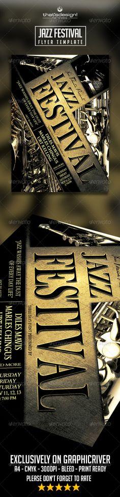 Jazz Festival Flyer Template Official website : http://thats-design.com/