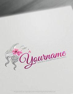 Create a Logo Free - woman's face Logo Template. Customize This logo with our free logo maker tool Create A Logo Free, Best Logo Maker, Hair Salon Logos, Hair Salons, Fashion Logo Design, Fashion Logos, Vida Natural, Artist Logo, Online Logo