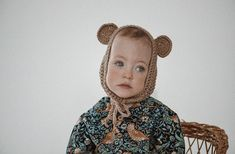 Sustainably made baby bear bonnet Handmade Baby Clothes, Handmade Baby Gifts, Personalized Baby Gifts, Organic Baby Clothes, New Baby Gifts, Gender Neutral Baby Clothes, Kids Clothing Brands, Baby Bonnets, Cool Kids