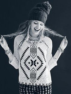 Free People Changing Directions Lace Top