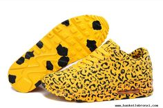 For Wholesale Mens Nike Air Max 90 Leopard Yellow Black Shoes Cheap Nike Air Max, Nike Air Max For Women, Mens Nike Air, Nike Women, Yellow Sneakers, Yellow Nikes, Yellow Black, Black Running Shoes, Running Shoes Nike