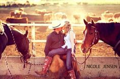 Country Engagement Photos horse / cowReining barrel racing rodeo western ranch cowboy cowgirl farm show performance equine horse equestrian pony quarter charro vaquero gymkhana sliding stop cutting cowhorse prcagirl - Country Engagement, Engagement Couple, Engagement Pictures, Wedding Pictures, Western Engagement Photos, Wedding Ideas, Engagement Shoots, Country Couples, Country Girls