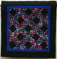 Making Waves by Dorian Walton. Miniature Quilts – Third Place – The Festival of Quilts 2017 Handi Quilter, Stained Glass Crafts, Miniature Quilts, Amish Quilts, Quilt Festival, Making Waves, Quilting Designs, Quilt Patterns, Competition