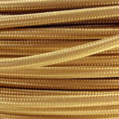 italian made gold fabric lighting cable brown fabric lighting