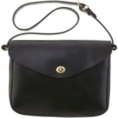 Mimi Berry Frank Leather Medium Shoulder Bag, Black (25.235 RUB) ❤ liked on Polyvore