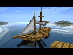 Minecraft Tutorial: How to build a medieval ship (Tradeship) Version 2 - YouTube