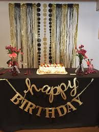 Black and Gold Party Decoration Ideas . Fresh Black and Gold Party Decoration Ideas . Moms 50th Birthday, 70th Birthday Parties, Birthday Table, Happy Birthday, Diy Birthday, 60th Birthday Ideas For Mom Party, Birthday Candy, Black And Gold Party Decorations, Black Gold Party